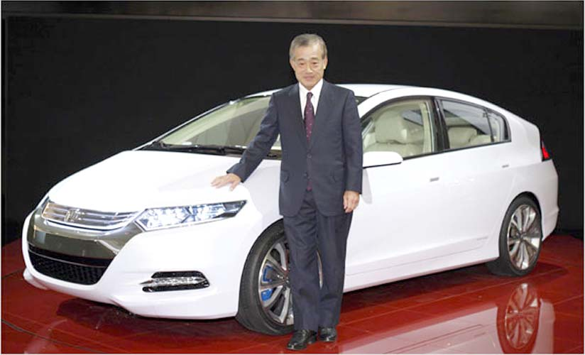 Honda President, Takeo Fukui and the new Insight