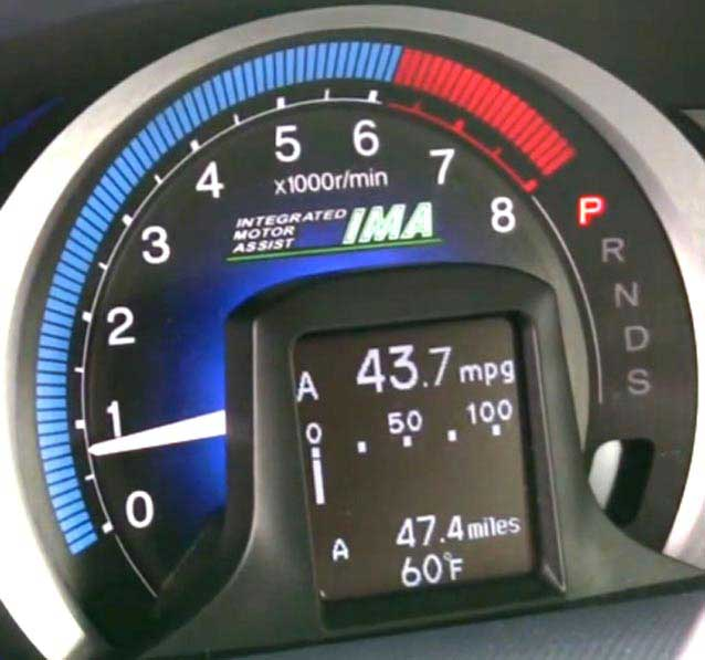 NAIAS Insight IMA fuel consumption bar graph