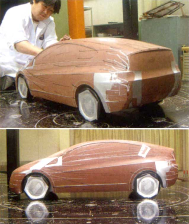 2010 Insight wind-tunnel scale model